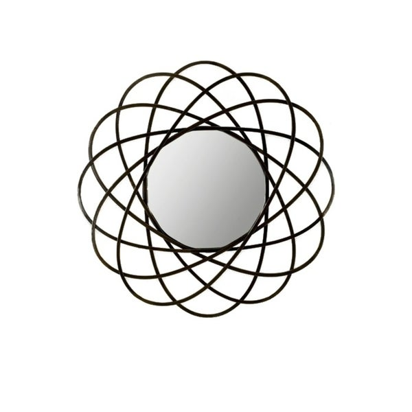 Gateway Modern wall mirror with metal frame in black colour.