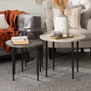 Carson Carrington  Nesting Table Set (Birch / Slate Grey / Graphite)