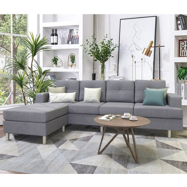 Copper Grove Baldrine Sectional Sofa Sets with Reversible Chaise Lounge