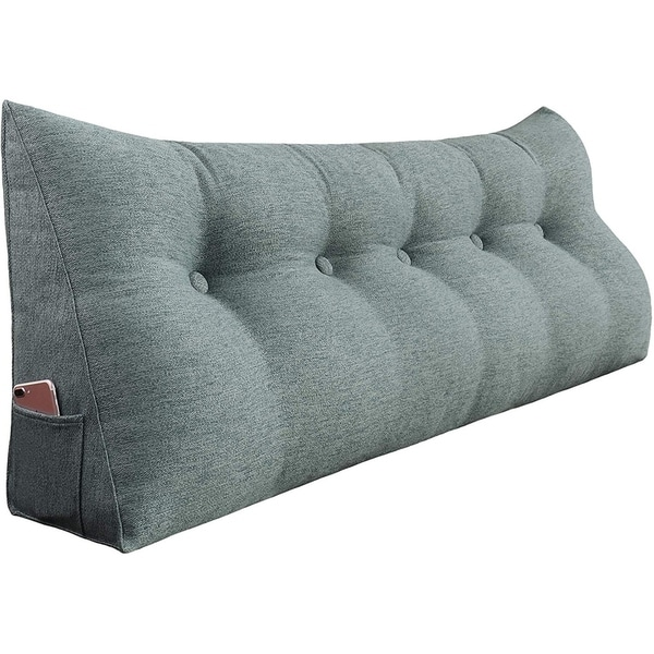WOWMAX Bed Rest Bolster Wedge Back Reading Pillow Sitting Up Lumbar Support. Opens flyout.