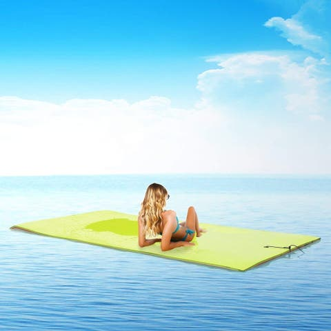 Ainfox 18' x 6'3 Layer Floating Water Pad Foam Mat Water Recreation Relaxing