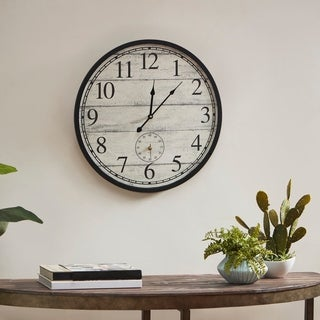 Link to Madison Park Campbell Antique White Wall Clock Similar Items in Decorative Accessories