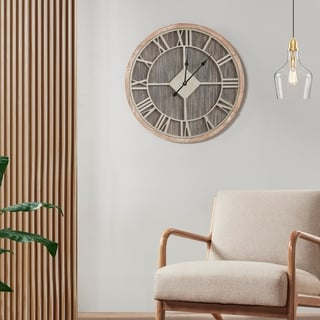 Link to Madison Park Jackson Reclaimed Grey Wall Clock Similar Items in Decorative Accessories