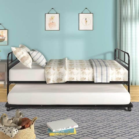 Taylor & Olive Engelmann Twin-size Metal Daybed with Trundle