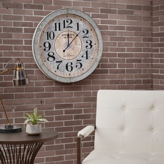 Madison Park Austin Antique Silver Wall Clock