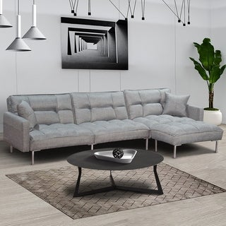 Copper Grove Bride Modern Fabric-upholstered Convertible Sectional Sofa