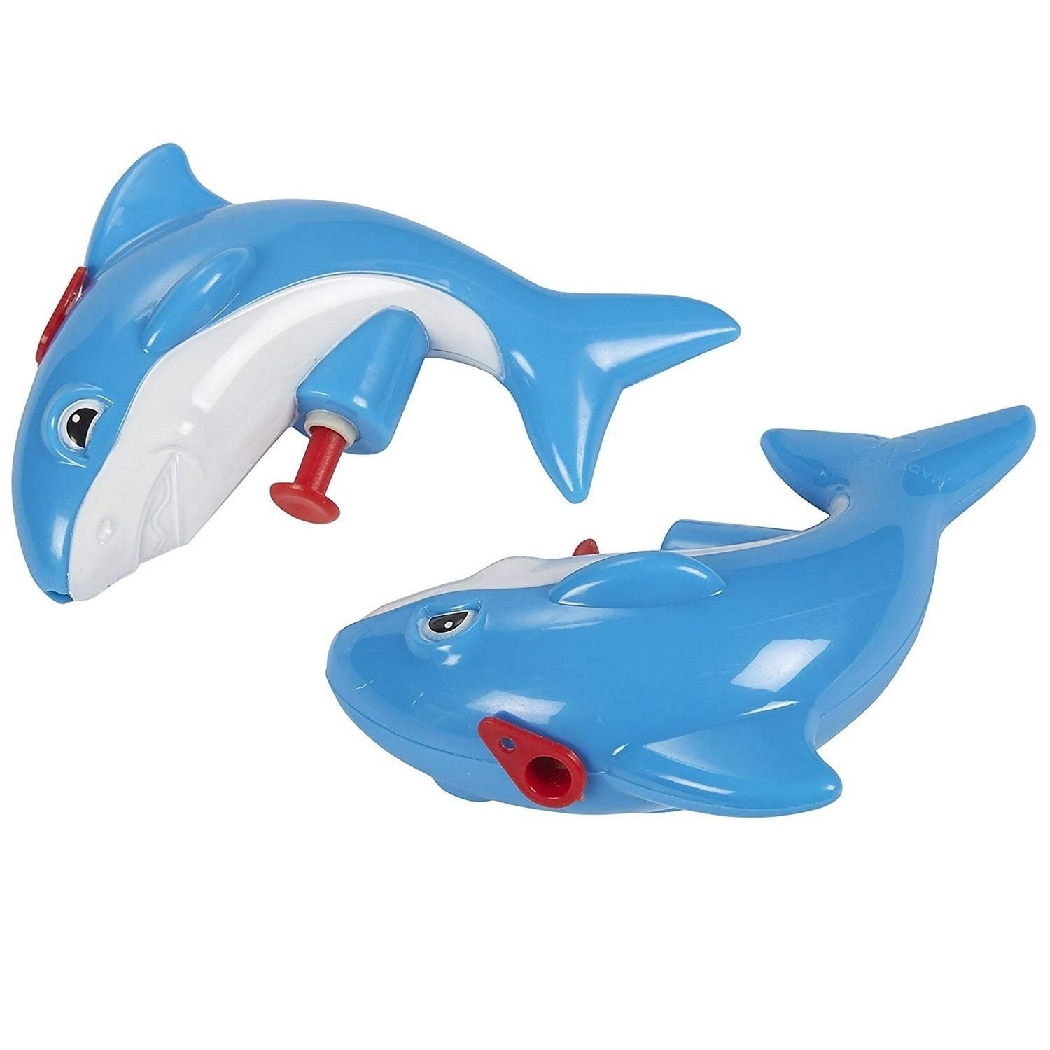 Ages 6 and Up 12-Pack Mini Animal Squirt Guns Blue Shark Toys for Kids
