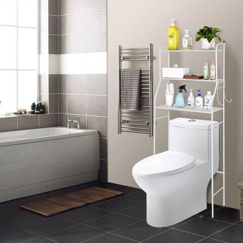 "3-Tier The Toilet Bathroom Rack White - 9'6"" x 13'6"""