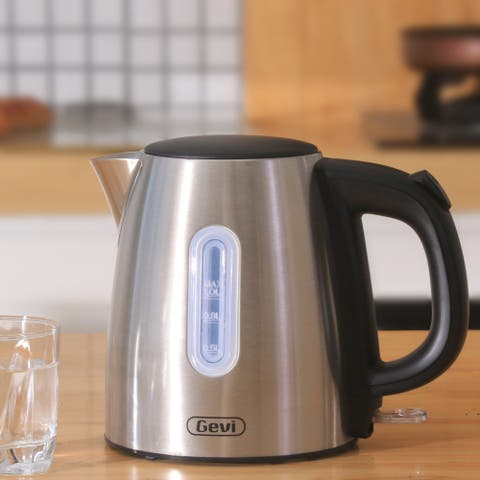 Electric Kettle, 1 Liter Stainless Steel Small Cordless Tea Kettle