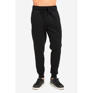 ET TU Men's Jogger Fleece Sweat Pants - Black
