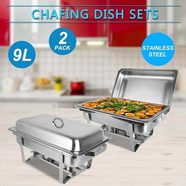 2 Pack 8 Quart Chafing Dish,Food Warmer For Buffet Wedding