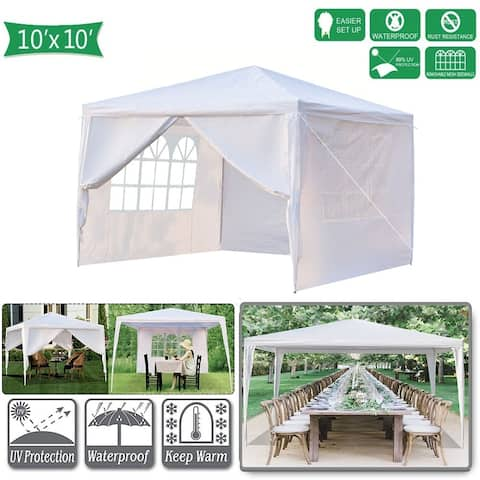 10' x 10' Canopy Tents for Outside with 4 Removable Sidewalls