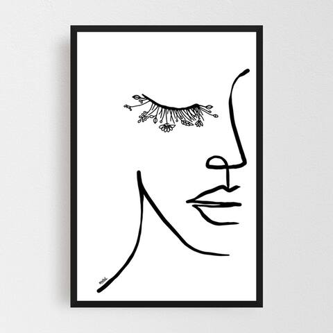 Noir Gallery Figurative Feminine Line Drawing Framed Art Print
