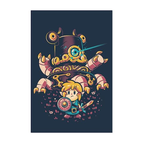 Noir Gallery Video Games The Legend of Zelda Unframed Art Print/Poster