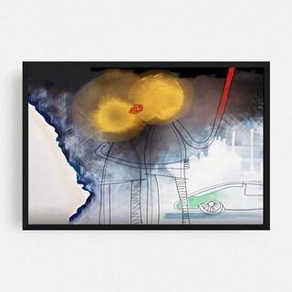 Noir Gallery Abstract Mixed Media Framed Art Print