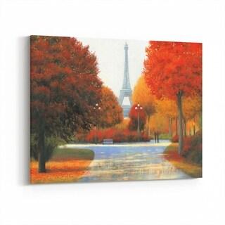 Noir Gallery Paris France Autumn Eiffel Tower Canvas Wall Art Print