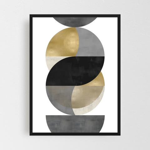 Noir Gallery Abstract Geometric Painting Framed Art Print