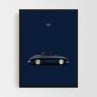 Noir Gallery Porsche 356 Car Framed Art Print