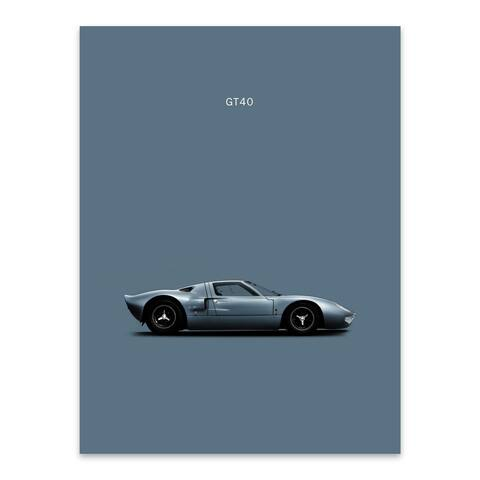 Noir Gallery Ford GT40 Cars Sports Metal Wall Art Print