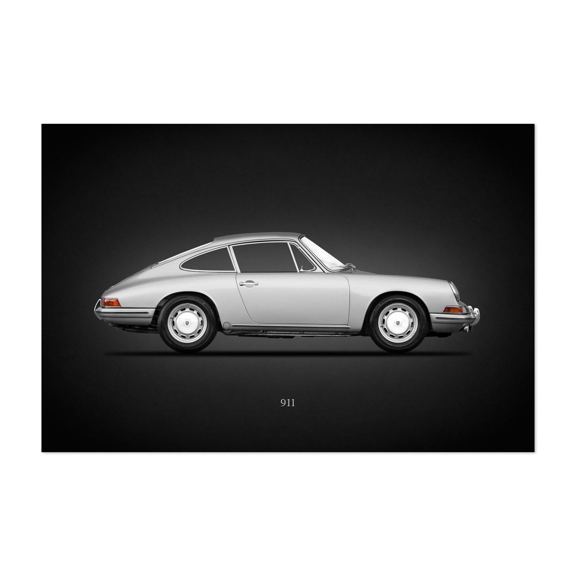 Porsche Black And White Car Poster Canvas Print Art Home Decor Wall Art Fifasteluce Com