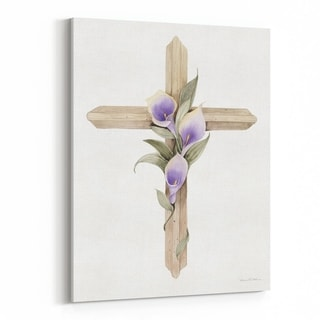 Noir Gallery Floral Holiday Christian Religion Canvas Wall Art Print
