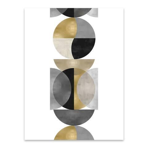 Noir Gallery Abstract Geometric Painting Metal Wall Art Print