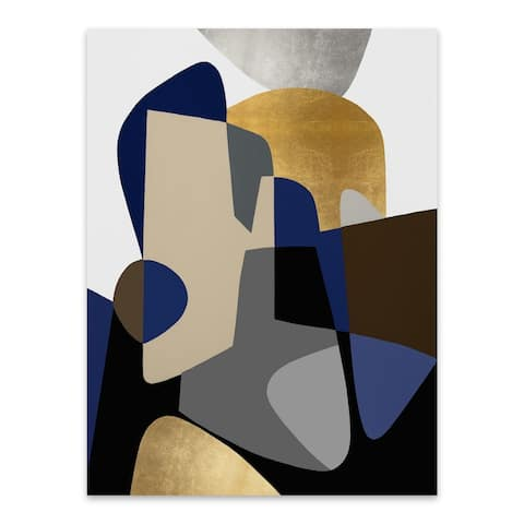 Noir Gallery Abstract Shapes Geometric Painting Metal Wall Art Print