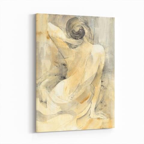 Noir Gallery Feminine Nude Bathroom Bat Canvas Wall Art Print