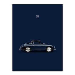 Noir Gallery Porsche 356 Car Metal Wall Art Print