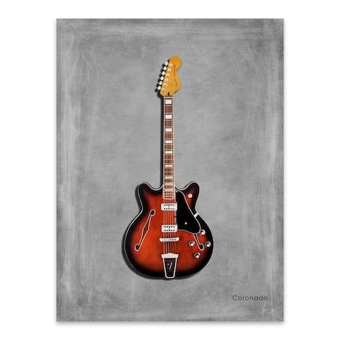 Noir Gallery Music Fender Coronado Guitar Metal Wall Art Print