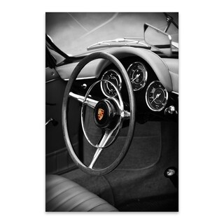 Noir Gallery Porsche 356 Roadster Metal Wall Art Print