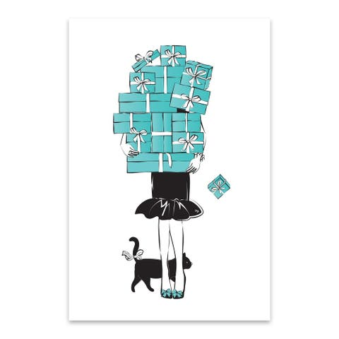Noir Gallery Feminine Fashion People Figurative Metal Wall Art Print