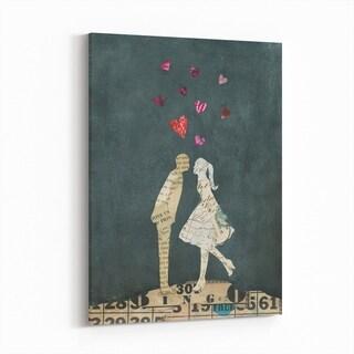 Noir Gallery Figurative Feminine Heart Collage Canvas Wall Art Print