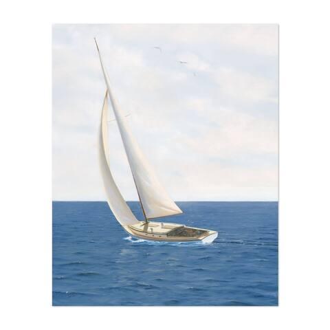Noir Gallery Beach Sailboat Nautical Boats Waves Unframed Art Print/Poster
