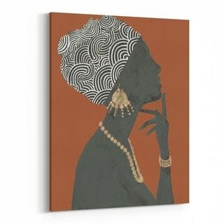 Noir Gallery Feminine Pattern Fashion African American Canvas Wall Art Print