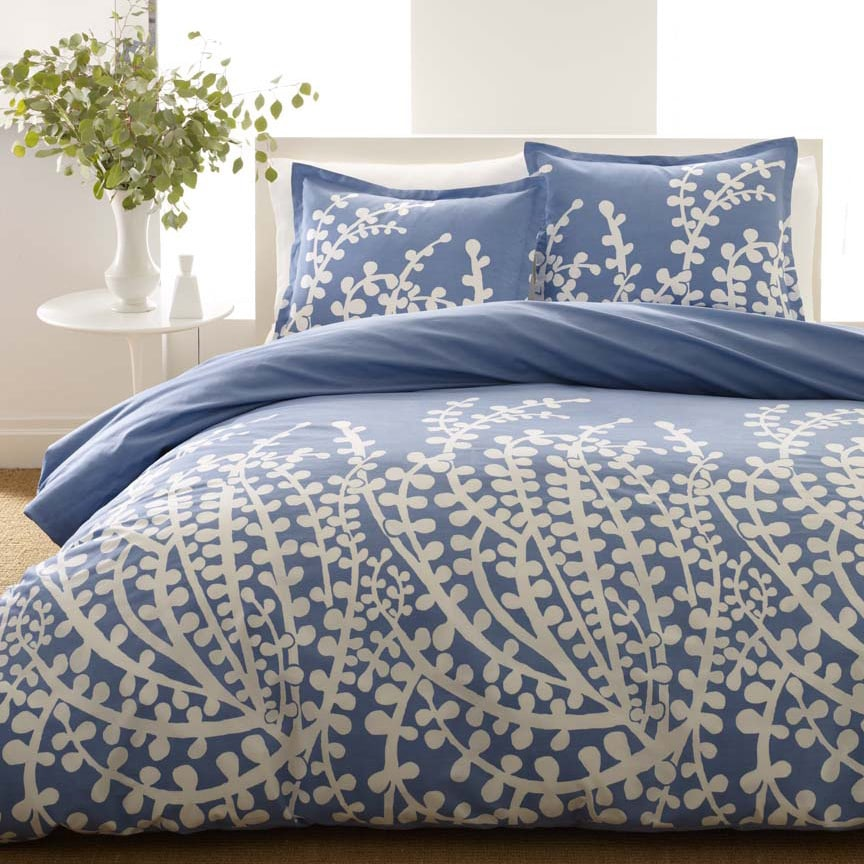 City Scene Branches French Blue 3-piece Duvet Cover Set (...