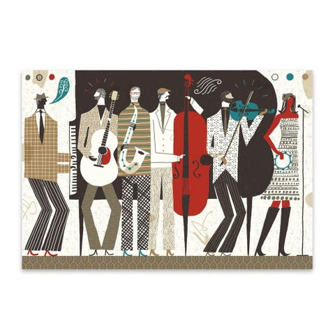 Noir Gallery Figurative Music Guitar Illustration Metal Wall Art Print