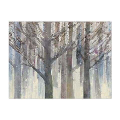 Noir Gallery Watercolor Forest Winter Painting Unframed Art Print/Poster