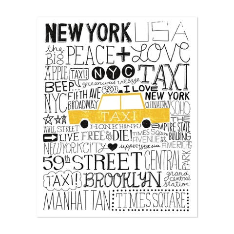 Noir Gallery Brooklyn New York Urban Love Taxi Unframed Art Print/Poster