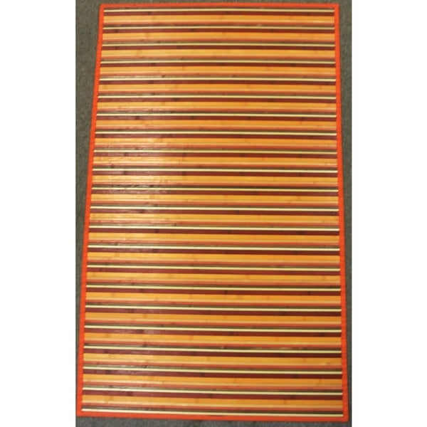 Rust Rayon from Bamboo Runner Rug (2' x 7')