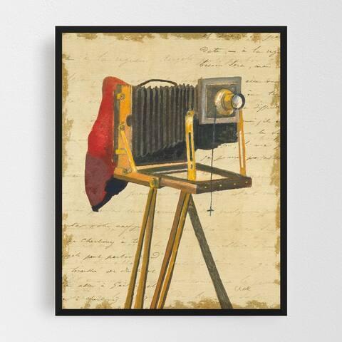 Noir Gallery Vintage Cameras Collage Framed Art Print