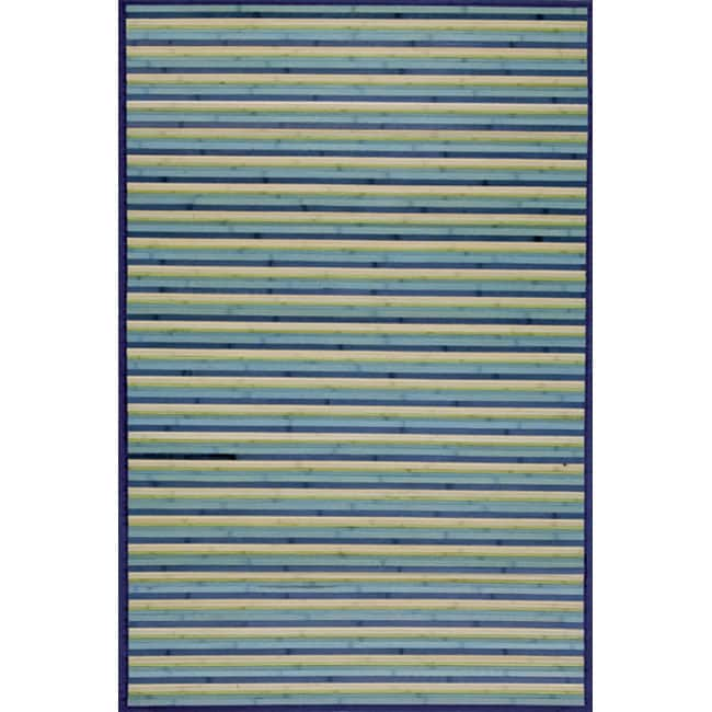 Blue Rayon from Bamboo Area Rug (5' x 7')