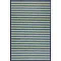 Handmade Blue Rayon from Bamboo Rug (5' Octagon)