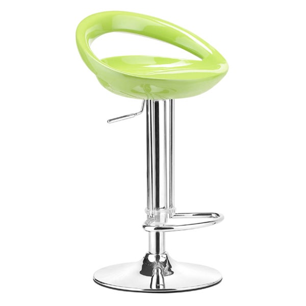 Topeka Epoxy And Chrome Green Bar Stool Free Shipping