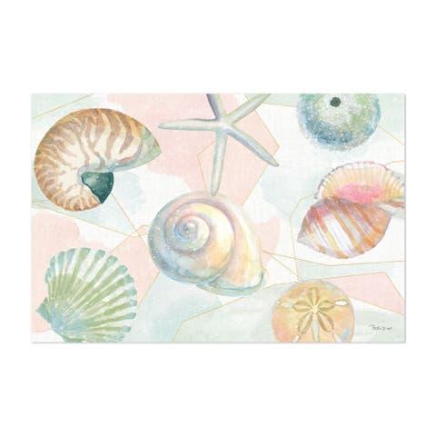 Noir Gallery Beach Seashells Painting Unframed Art Print/Poster