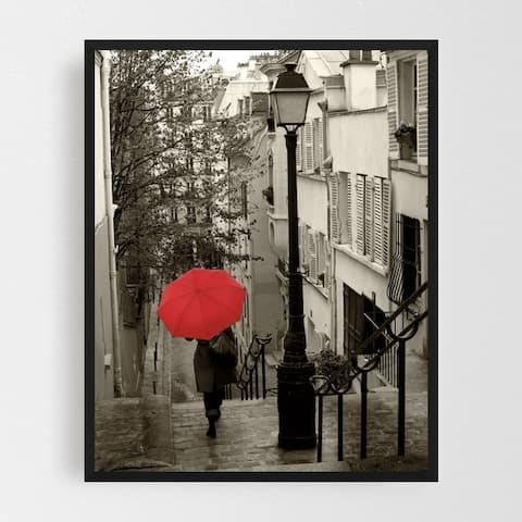 Noir Gallery Paris France Urban Umbrella Photo Framed Art Print
