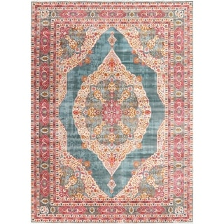 Floral Distressed Turkish Vintage Style Oriental Area Rug Traditional