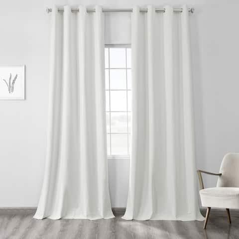 Exclusive Fabrics Vintage Thermal Cross Linen Weave Max Blackout Grommet Curtain
