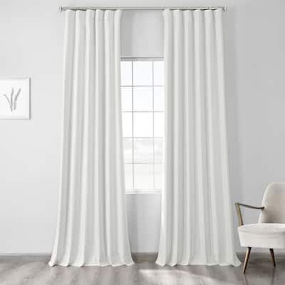Exclusive Fabrics Vintage Thermal Cross Linen Weave Max Blackout Curtain