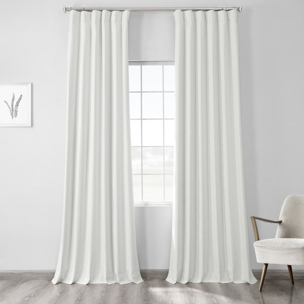 Exclusive Fabrics Vintage Thermal Cross Linen Weave Max Blackout Curtain. Opens flyout.
